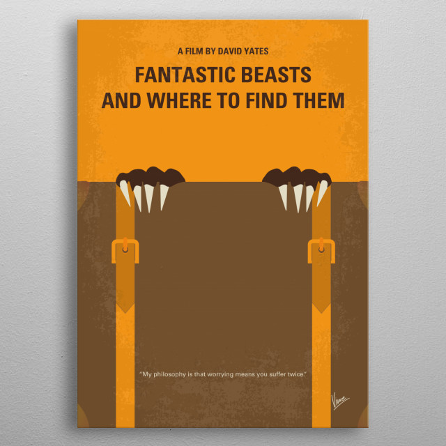No962 My Fantastic Beasts and Where to Find Them m metal poster