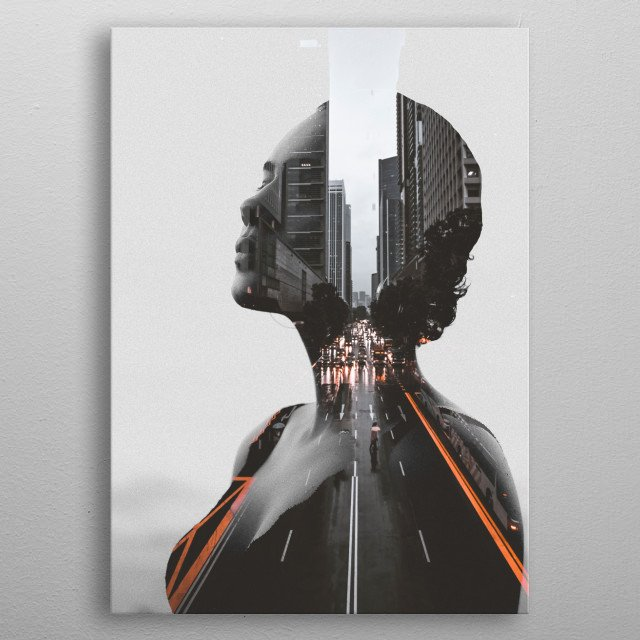 Fascinating metal poster designed by dada 22. Displate has a unique signature and hologram on the back to add authenticity to each design. metal poster
