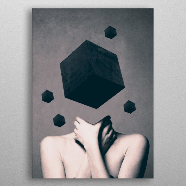 Think Outside The Box  metal poster
