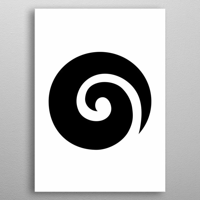 Koru. Maori symbol , fern frond metal poster