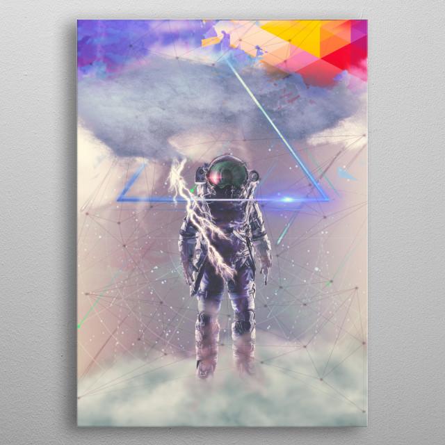 Cloud metal poster