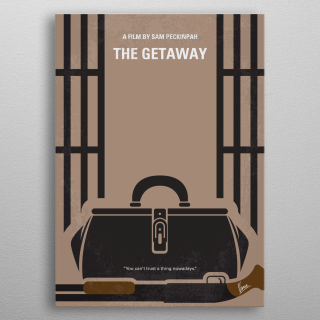 No952 My The Getaway minimal movie poster metal poster