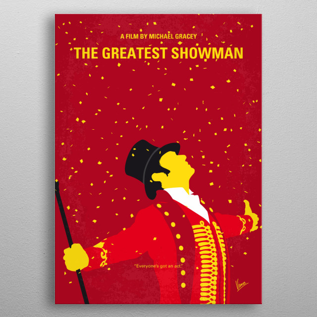 No965 My The Greatest Showman minimal movie poster metal poster