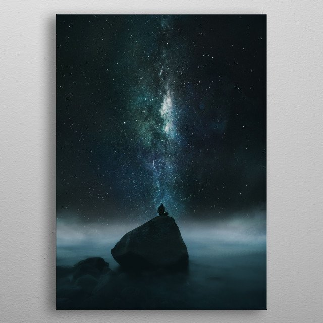 High-quality metal print from amazing Cosmic Silhouette Artworks collection will bring unique style to your space and will show off your personality. metal poster