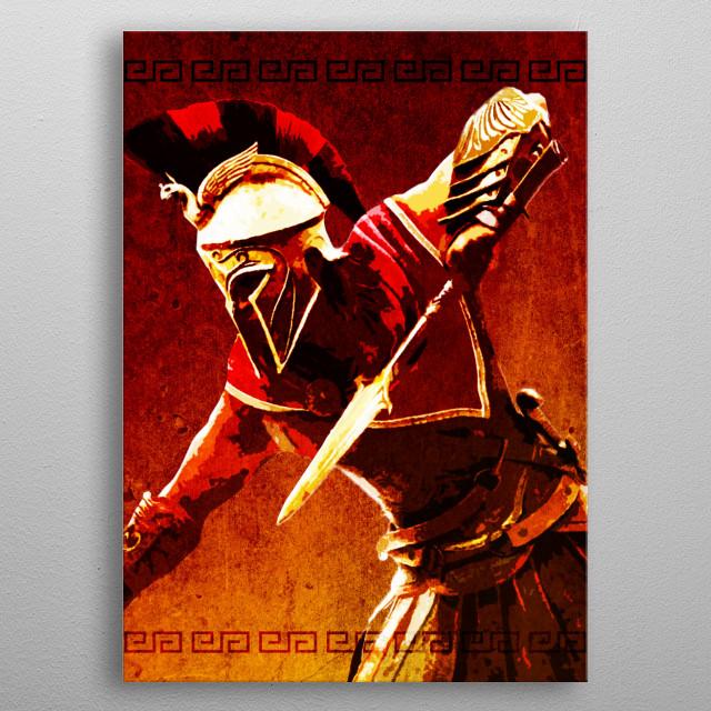 Warrior metal poster