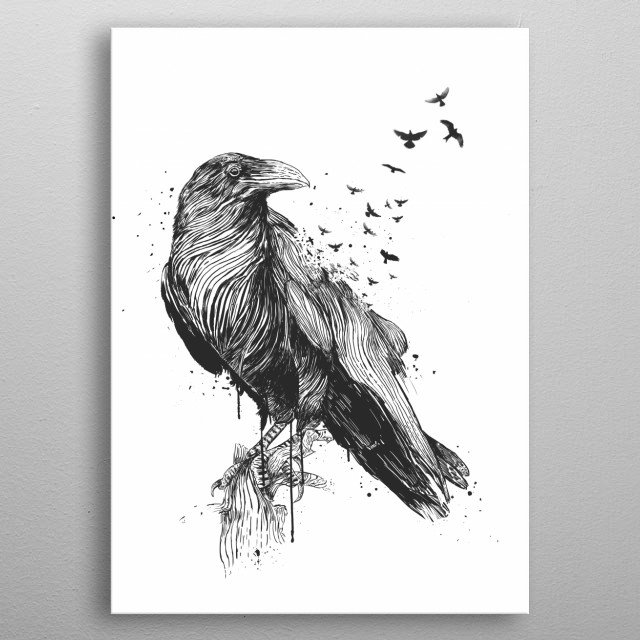Born to be free (bw) metal poster