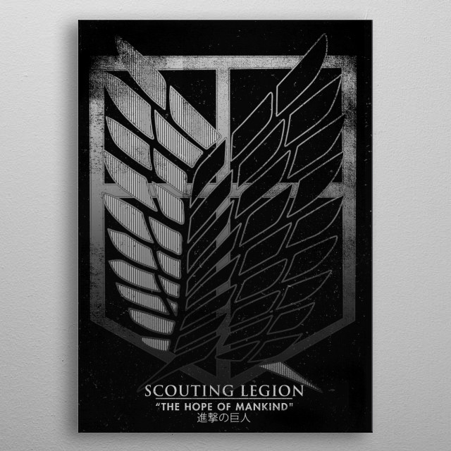 The hope of mankind metal poster