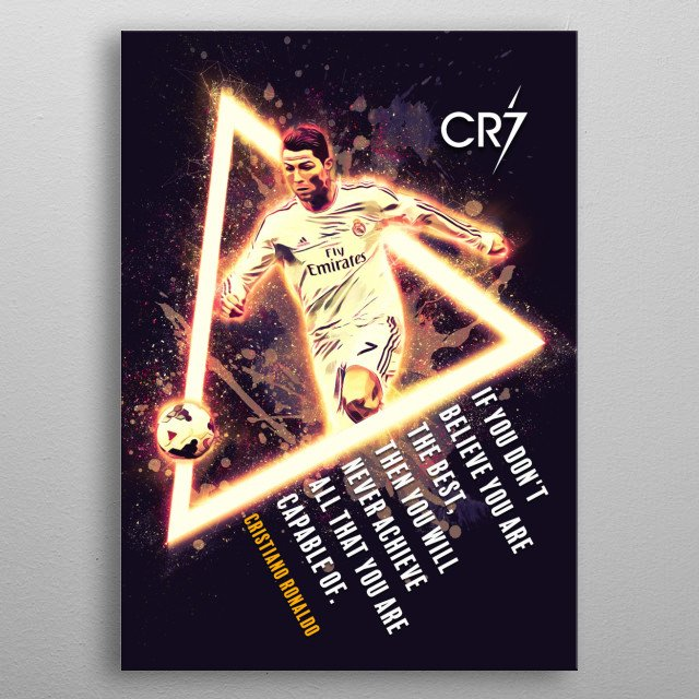 High-quality metal print from amazing Sports Icon collection will bring unique style to your space and will show off your personality. metal poster
