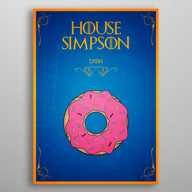 House Simpson metal poster