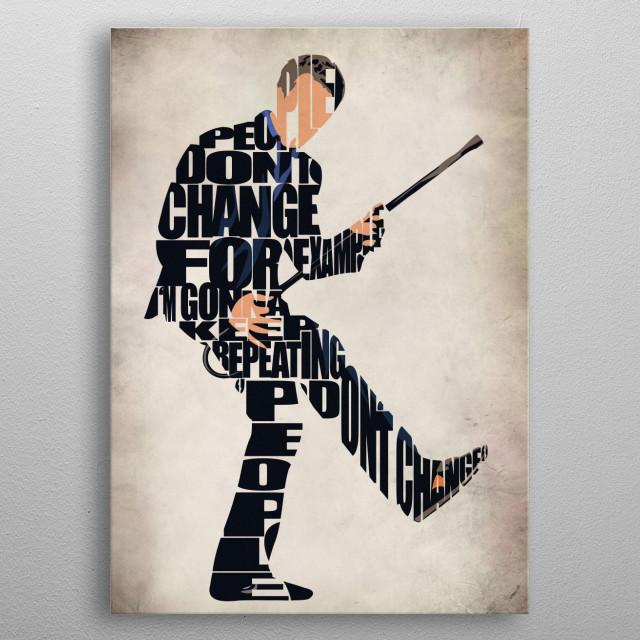 Dr Gregory House Typography & Minimal Illustration metal poster