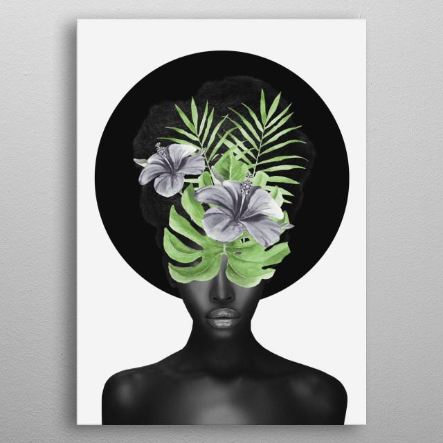 Tropical Girl metal poster