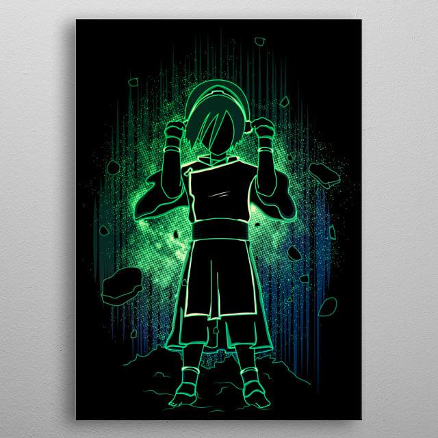 Shadow of Earthbending metal poster