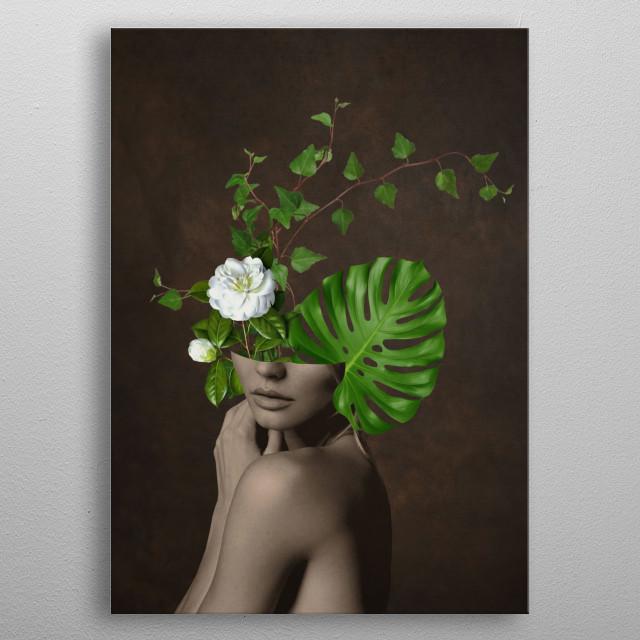 Tropical Girl 1 metal poster