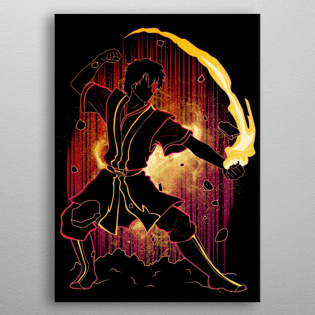Shadow of Firebending metal poster
