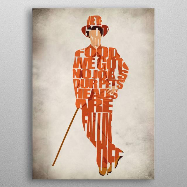 Lloyd Typographic & Minimalist Illustration Poster metal poster
