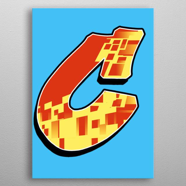 Graffiti Alphabet Letter. metal poster