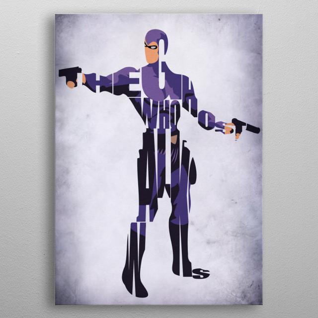Phantom Typographic & Minimalist Illustration metal poster
