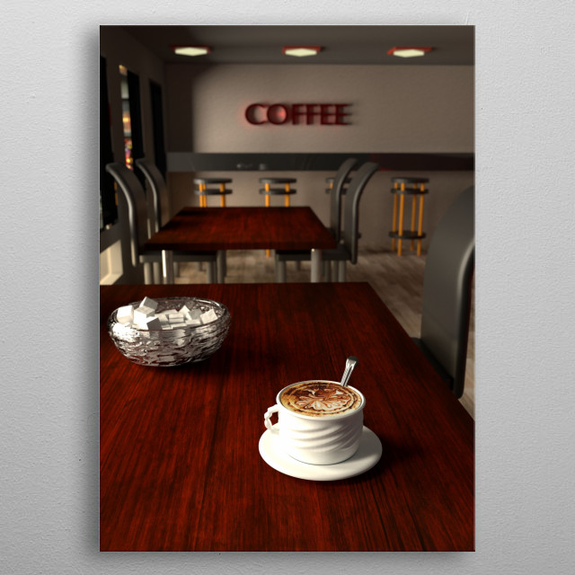 Grab Some Coffee metal poster
