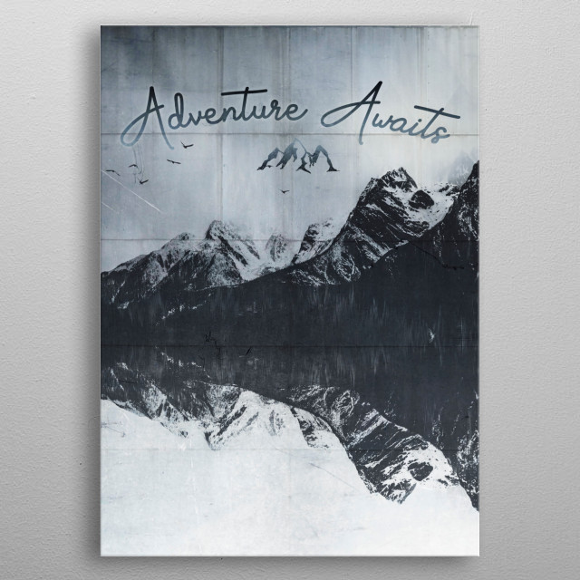 Heartbeat - Adventure Awaits metal poster