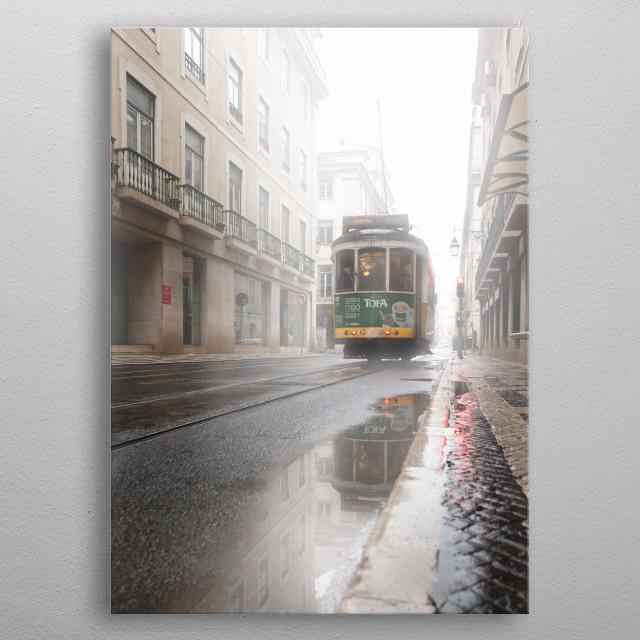 Through the fog metal poster