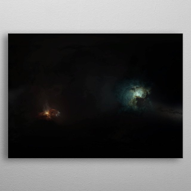 A series of EVE Online inspired pieces depicting deep spacescapes. metal poster