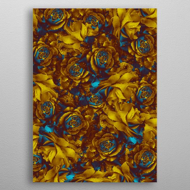flowers 20 metal poster