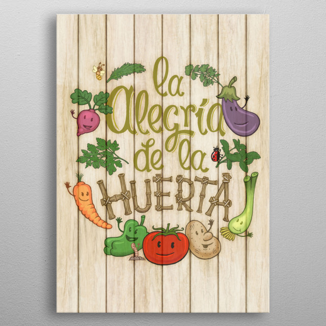 High-quality metal print from amazing Lettering In Spanish collection will bring unique style to your space and will show off your personality. metal poster