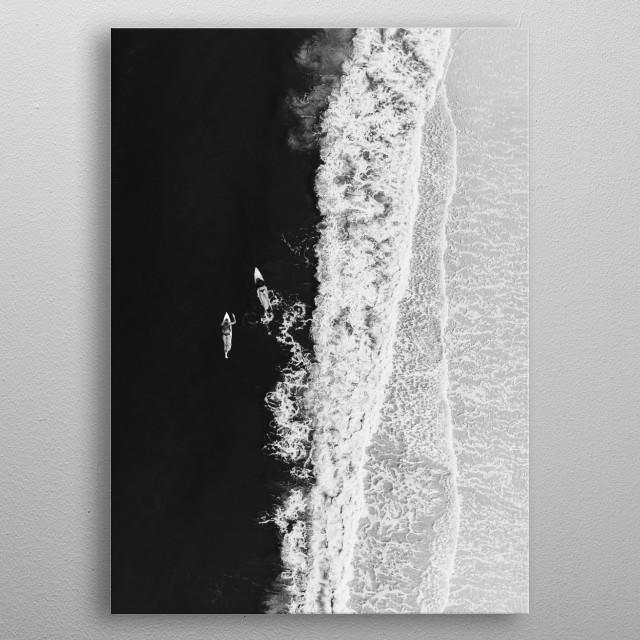 Ocean Surfing Girls metal poster
