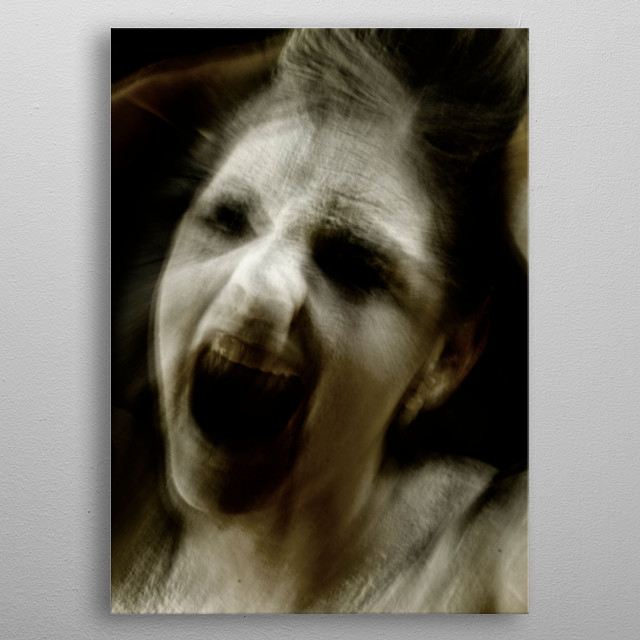 scary gost madness metal poster