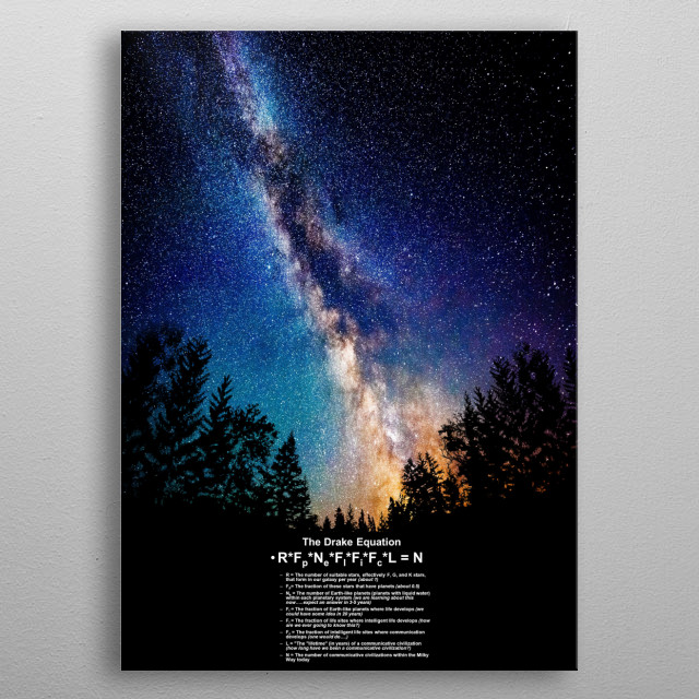 drake´s equation metal poster