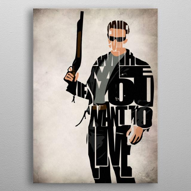 Terminator Typographic & Minimal Art Illustration metal poster
