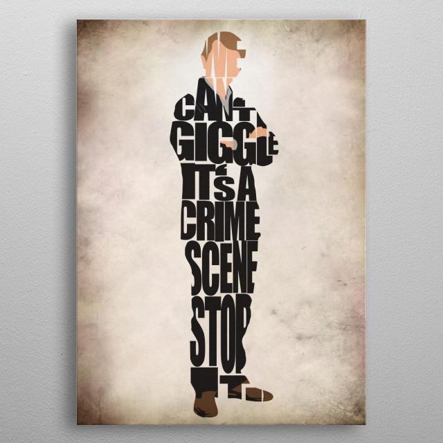 John Watson Typographic & Minimalist Illustration metal poster