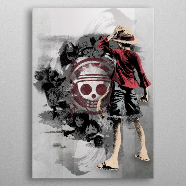 Straw hats  metal poster