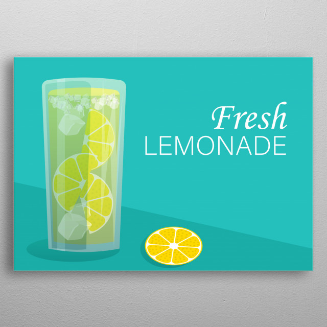 Whenever I have worked on this picture or see it, I immediately thirst for fresh lemonade. Are you not feeling the same? metal poster