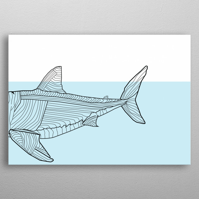 This image consists of distinct straight or curved lines placed against a background. It is called line art. Line art can use lines of differ... metal poster
