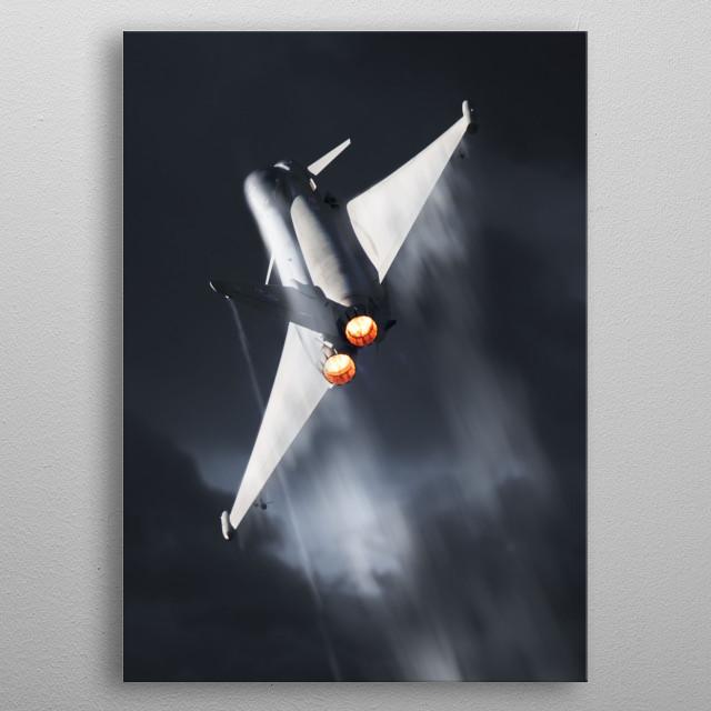 RAF Typhoon Display creating Vapour metal poster