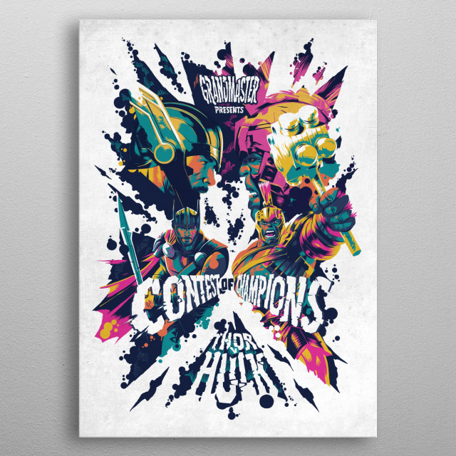 Contest of Champions metal poster
