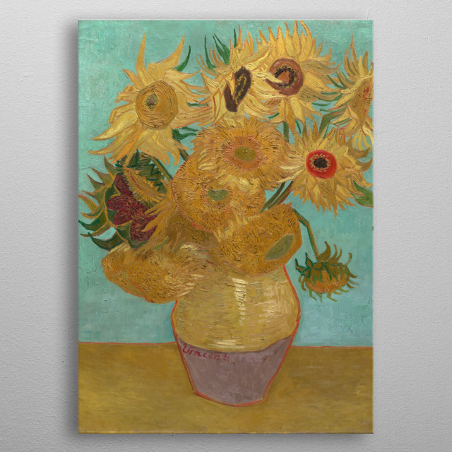 Sunflowers by van Gogh metal poster