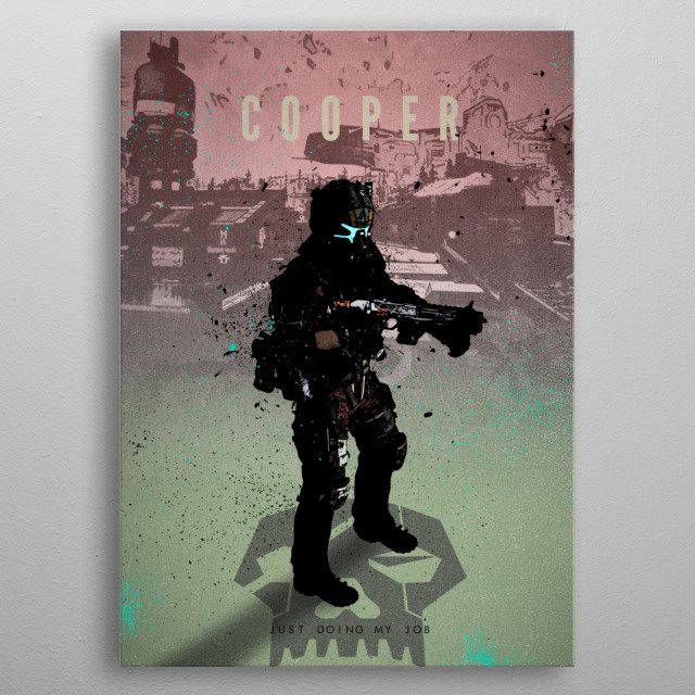 Fascinating metal poster designed by Rykker o7. Displate has a unique signature and hologram on the back to add authenticity to each design. metal poster