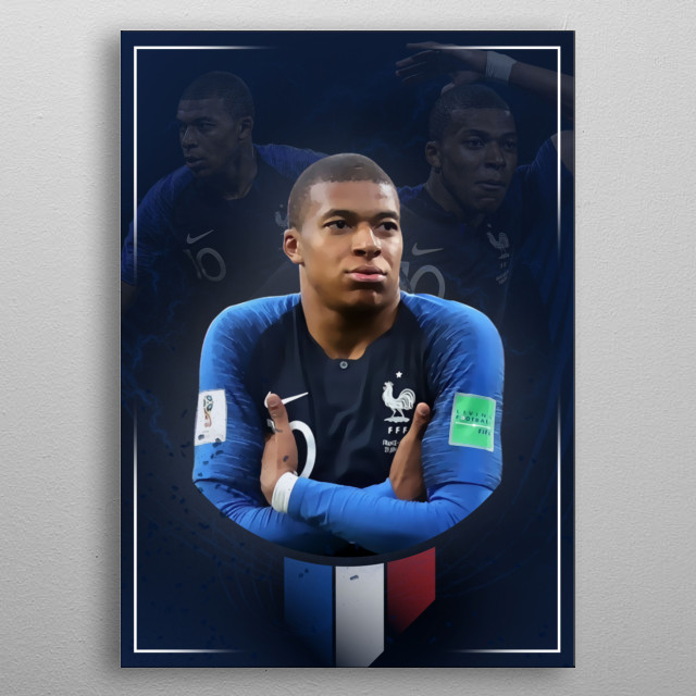 Mbappe poster metal poster