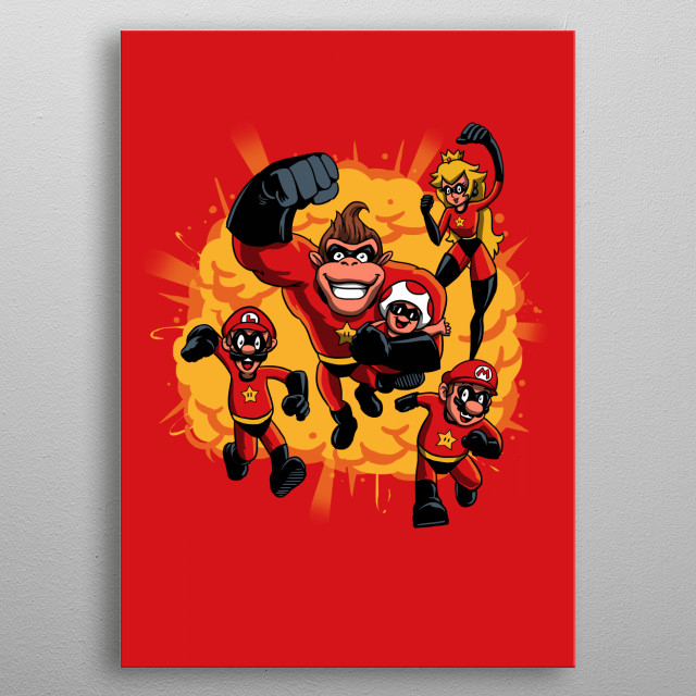 Nincredibles metal poster