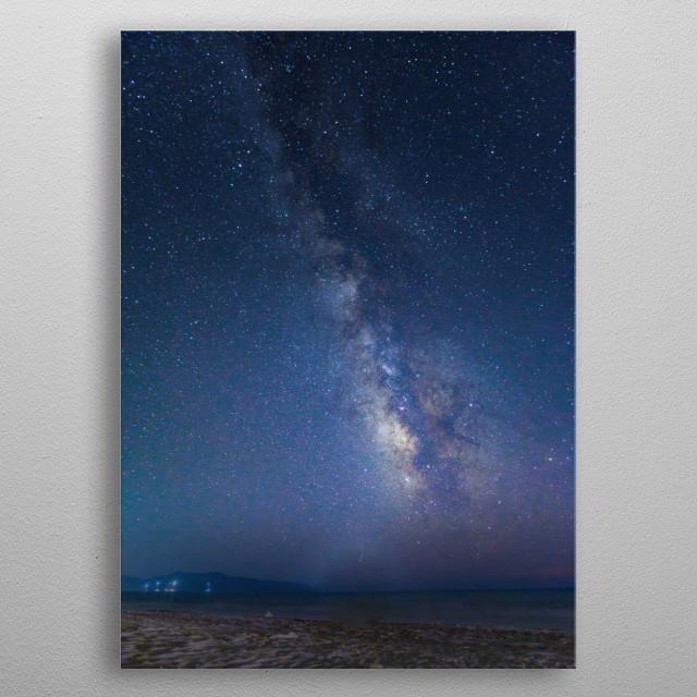 An amazing Milky Way  metal poster