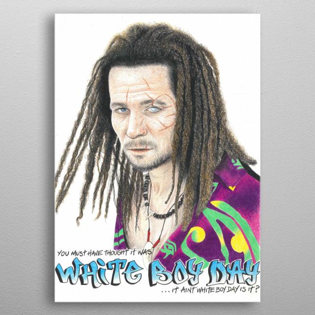 White Boy Day metal poster