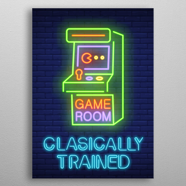 Classically Trained metal poster