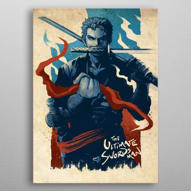 Pirate Hunter Zoro metal poster