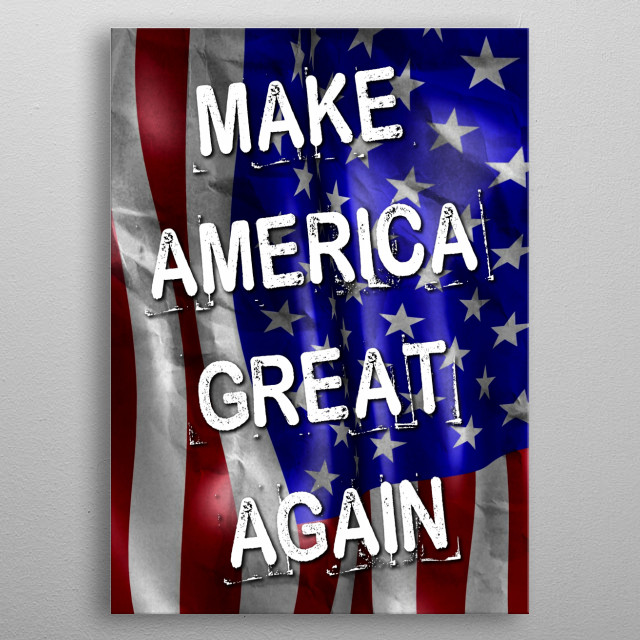 Make America Great Again metal poster