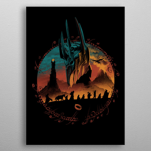 Middle Earth Quest metal poster