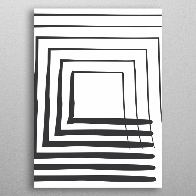 Minimalistic and abstract artwork. Mysterious future perspective. metal poster