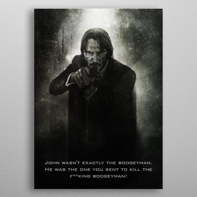John Wick Boogeyman Killer / Tagline metal poster