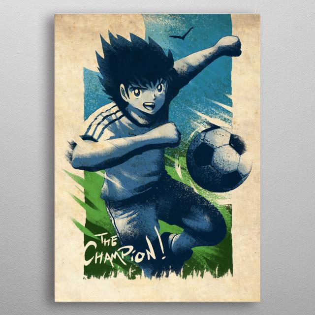 Captain Tsubasa metal poster